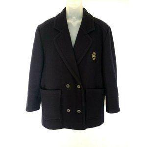 Vintage Lacoste 100% Wool Overcoat Jacket Size 38R